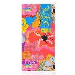 """Блокнот 100*200/64 ЛІН. інтег., неон+софт-тач лак. """"Floral vibes"""" YES"""