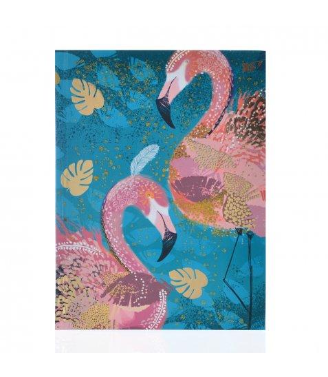 "Блокнот А5/64 КЛ. 7БЦ, фольга золото+глітер золото ""Opium. Flamingo"" YES"