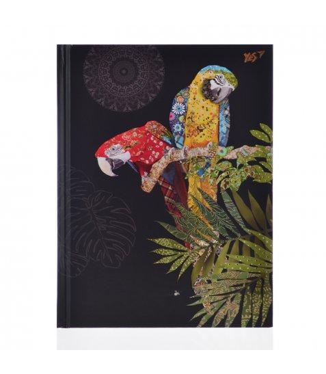 "Блокнот А5/96 КЛ. 7БЦ, фольга золото+Уф.виб. ""BugArt. Black parrot"" YES"