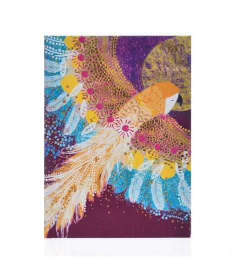 "Блокнот А6/64 КЛ. 7БЦ, фольга золото+глітер золото ""Opium. Parrot"" YES"