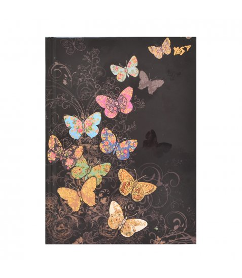 "Блокнот А6/64 КЛ. 7БЦ, фольга золото+Уф.виб. ""BugArt. Black butterfly"" YES"