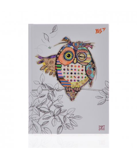 "Блокнот А6/64 КЛ. 7БЦ, фольга золото+Уф.виб. ""BugArt. White owl"" YES"