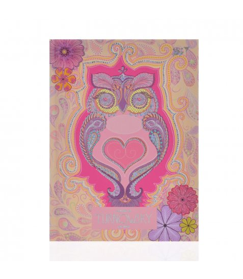 """Блокнот А6/64 ЛІН. 7БЦ, фольга голограф.серебро+УФ-виб. """"Turnowsky. Art owl"""" YES"""