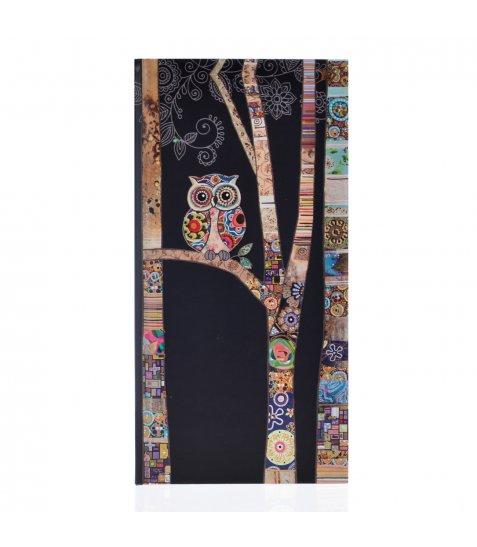 """Блокнот 100*200/64 ЛІН. 7БЦ, фольга золото+Уф.виб. """"BugArt. Black owl"""" YES"""