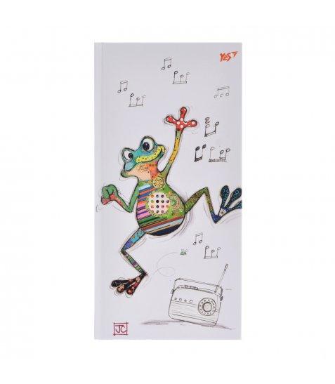 "Блокнот 100*200/64 ЛІН. 7БЦ, фольга золото+Уф.виб. ""BugArt. White frog"" YES"
