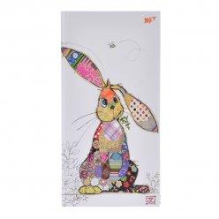 """Блокнот 100*200/64 ЛІН. інтег., фольга золото+Уф.виб. """"BugArt. White rabbit"""" YES"""