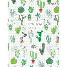 Зошит А5/144 пл.обкл. Turnowsky. Pattern cactus YES
