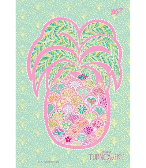 Зошит В6 / 144 пл.обл. Turnowsky. Art pineapple  YES