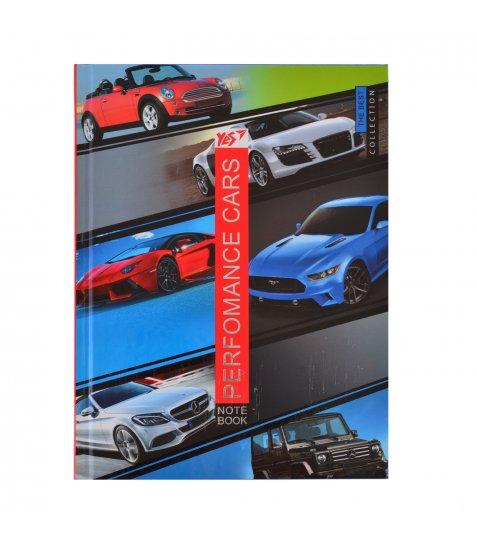 Блокнот А5 96 Кл. YES 7БЦ Perfomance Cars - фото 1 з 5