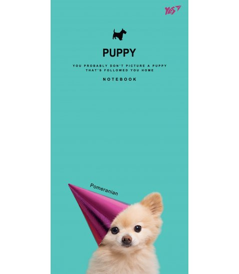 """Блокнот 100 * 200/64 ЛІН. інтег. """"Puppy"""" YES"""