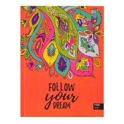 Блокнот А5 96 Кл. YES 7БЦ Follow Your Dream