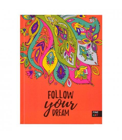 """Блокнот 140 * 185/96 КЛ. 7БЦ """"Follow your dream"""" YES"""