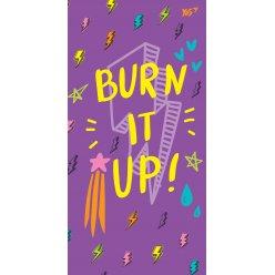 """Блокнот 100 * 200/64 КЛ. 7БЦ """"Burn it up!"""" YES"""