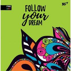 "Блокнот 150 * 150/64 Б/ЛІН. інтег. ""Follow your dream"" YES"