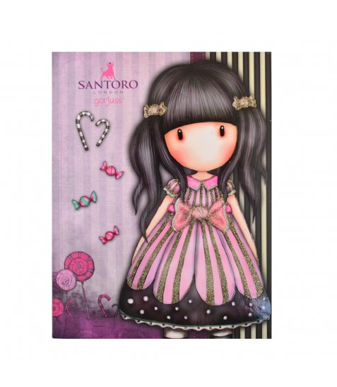 "Блокнот А5/64 КЛ. 7БЦ, Уф-виб + глітер ""Santoro Candy"" YES"