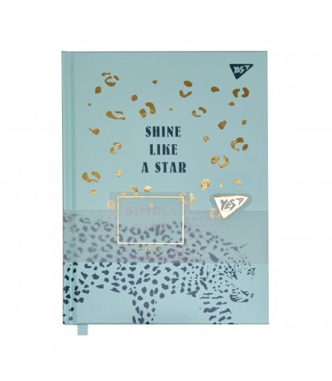 "Блокнот-мотиватор YES ""Shine like a star"" серії ""Simpli City"", 130 х 185 мм, 80 л., бірюзо"