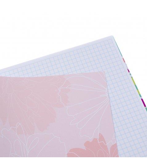 """Блокнот для записів А4/96 кл. 7БЦ, лам.софт-тач+глітер """"BEAUTIFUL"""" YES"""