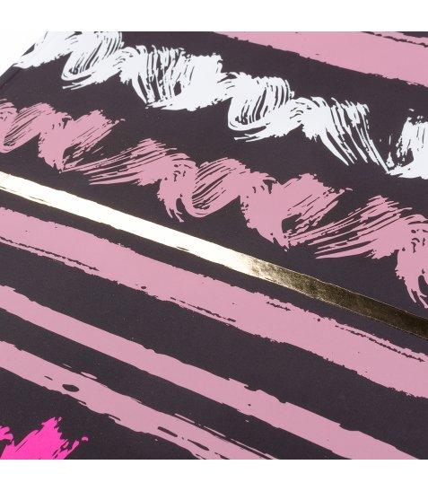 "Блокнот для записів А4/96 кл. 7БЦ, мат. лам.+ пант+фол. золото+софт-тач ""ART WAVE"" YES"