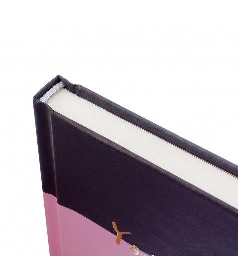 """Блокнот для записів А6/64 тчк. 7БЦ, лам.софт-тач+ пантон +фольга золото """"ART WAVE"""" YES"""