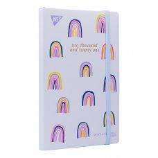 "Планер YES дата англ. ""Rainbow"", тверд, 192*132мм, 146 стор., стікери"