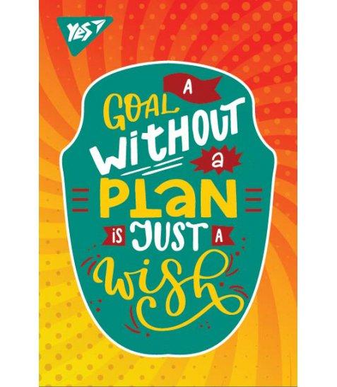 Блокнот А7 48 Кл. Клей YES Motivation