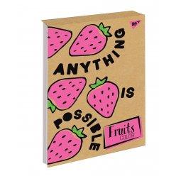 Блокнот В5 80 Кл. Клей YES Fruits Color Крафт