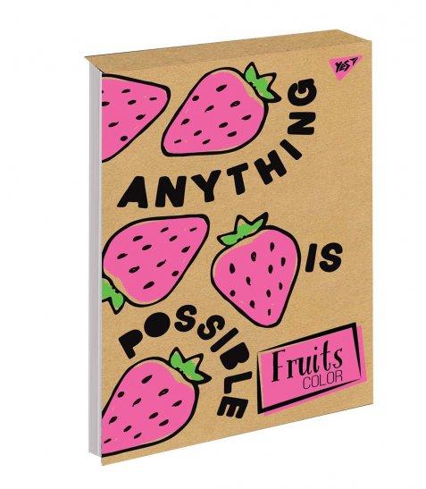 Блокнот В5/80 кл клей, СМІК+білила YES Fruits color крафт