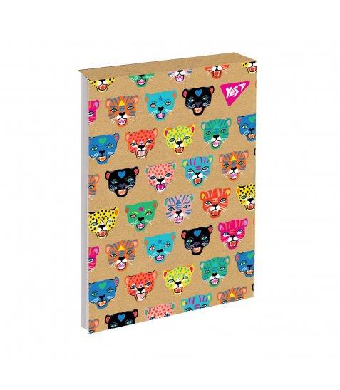 Блокнот В6/80 кл клей, СМІК+білила YES Rainbow animal крафт