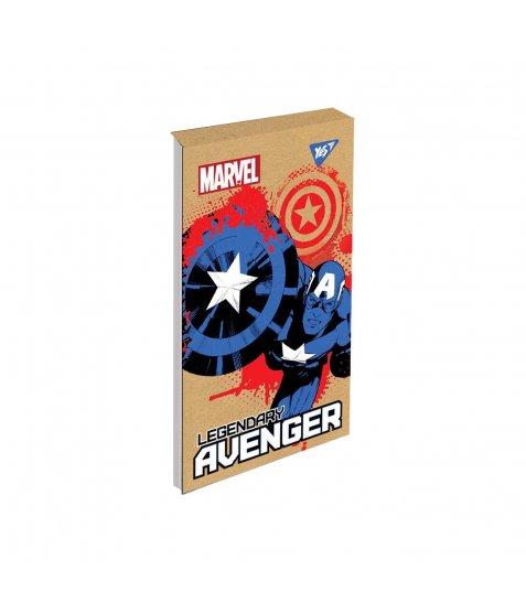 Блокнот А7+/80 кл клей, СМІК+білила YES Avenger крафт
