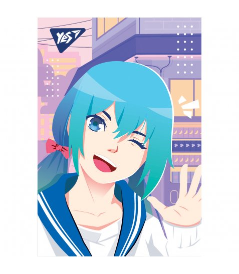 "Блокнот А7/48 кл клей YES ""Anime"" - фото 7 з 8"