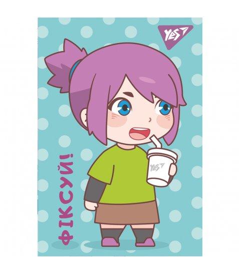 "Блокнот А7/48 кл клей YES ""Anime"" - фото 3 з 8"