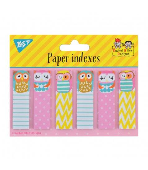 """Індекси паперові YES """"Rachel Owls"""", 120 шт (6*20)"""
