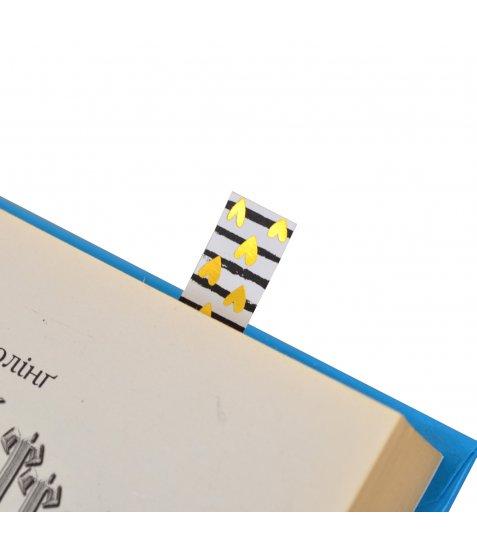 """Індекси паперові  YES з фольгою """"Fancy"""", 58*15мм, 80 шт (4*20)"""
