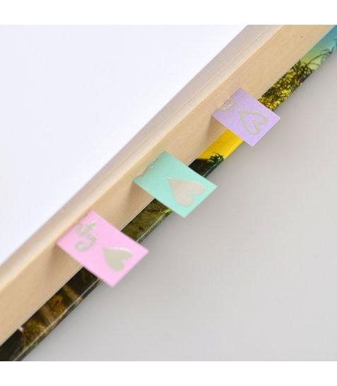 """Індекси паперові YES з фольгою """"Phrases"""", 59*15мм, 80 шт (4*20)"""
