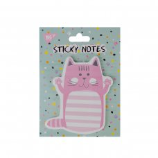 "Бумага с липким слоем YES фигурная ""Cute cat"", 90*105мм, 40 лист"