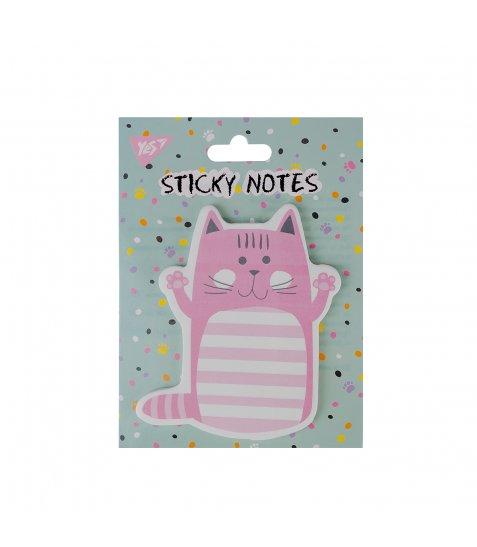 """Папір із клейким шаром YES фігурний """"Cute cat"""", 90*105мм, 40 лист"""