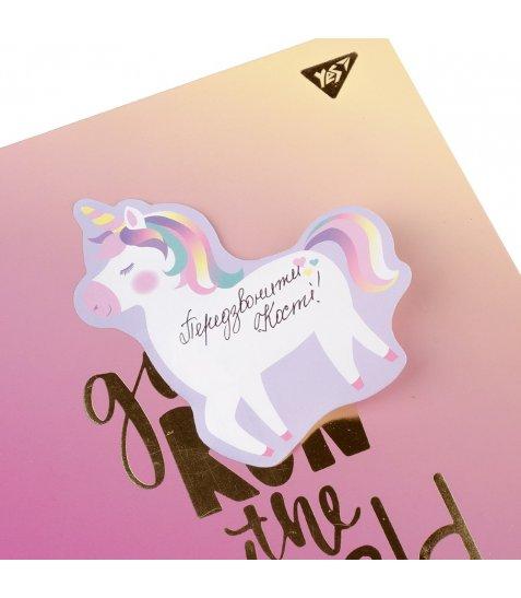 """Папір із клейким шаром YES фігурний """"Unicorn"""", 99*116мм"""