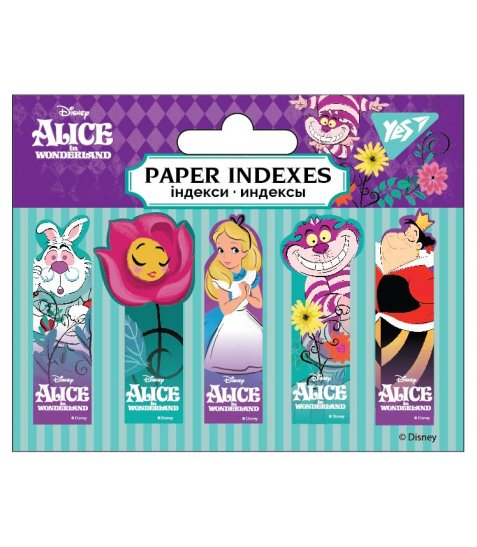 "Індекси паперові YES ""Alice in Wonderland"" 50x15мм, 100 шт (5x20) - фото 1 з 1"