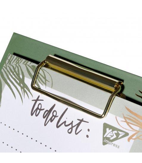 "Папір для нотаток YES To Do ""Vivere"", кліпборд з магнітом, олівець, блок 52 листа"