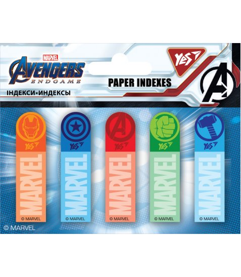 "Індекси паперові YES ""Marvel.Avengers"" 50x15мм, 100 шт (5x20) - фото 1 з 1"