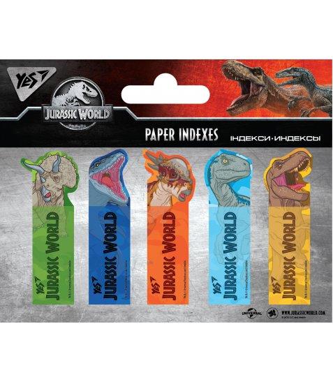 """Індекси паперові YES """"Jurassic World"""" 50x15мм, 100 шт (5x20) - фото 1 з 1"""