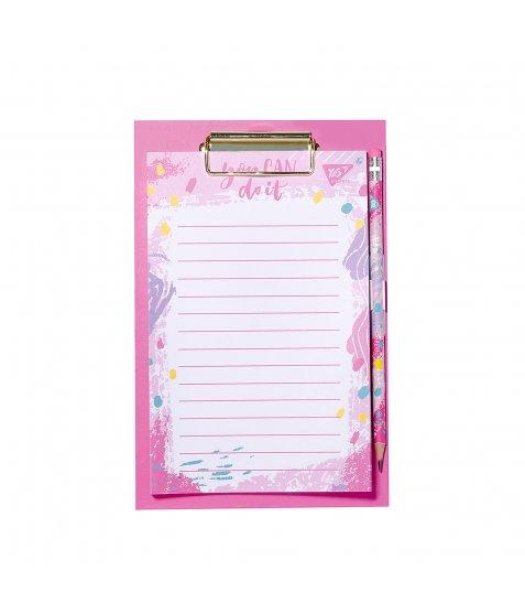"""Папір для нотаток YES To Do """"Hotch Potch"""", кліпборд з магнітом, олівець, блок 52 листа"""