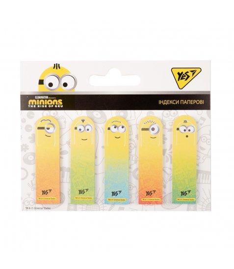 """Індекси паперові YES """"Minions"""" 50x15мм, 100 шт (5x20) - фото 1 з 1"""