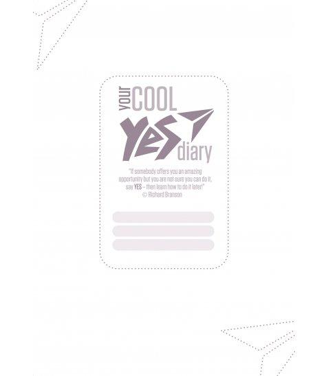 "Щоденник А5 недат. YES ""Good vibes"", тверд., 432 стр., білий"