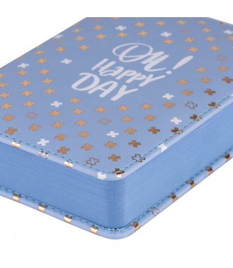 "Щоденник А6 недат. YES ""Good vibes"", тверд., 432 стр., сталевий синій"