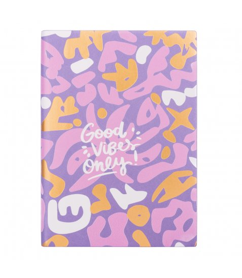 "Щоденник А5 недат. YES ""Good vibes"", м'як., 432 стр., pattern"
