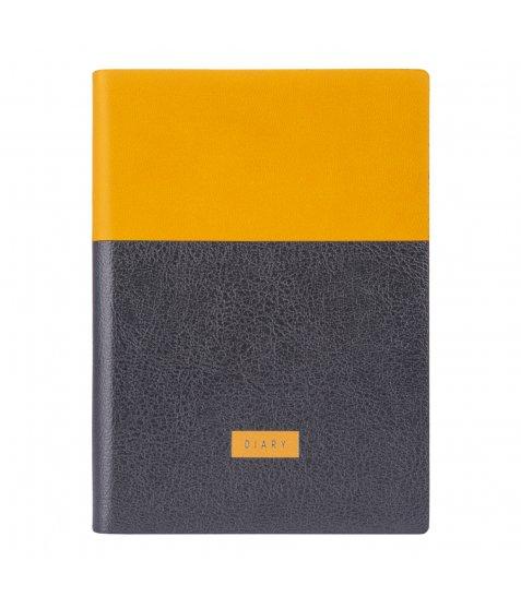 """Щоденник А6 недат. YES """"Giovanni"""", м'як., 432 стр., гірчичний/сірий"""