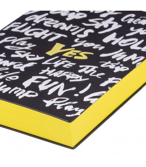 """Щоденник А5 недат. YES """"Canzone"""", м'як., 432 стр., чорний"""