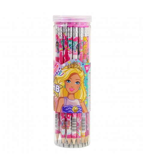 "Олівець ч/гр. круглий з ласт. в пл. тубі ""Barbie"", 36 шт./уп."