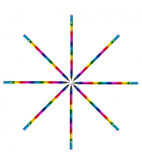 "Олівець YES ч/гр. круг. ""Black Rainbow"" c кристал., корпус фольга, чорне дерево, 24шт/ уп"